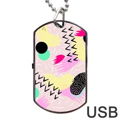 Pink Circle Red Pattern,sexy Dog Tag Usb Flash (one Side) by Alisyart