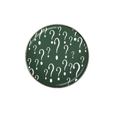 Question Mark White Green Think Hat Clip Ball Marker (4 Pack) by Alisyart