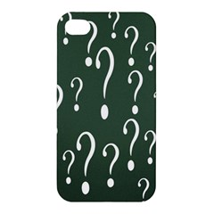 Question Mark White Green Think Apple Iphone 4/4s Hardshell Case by Alisyart