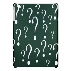Question Mark White Green Think Apple Ipad Mini Hardshell Case by Alisyart