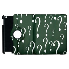Question Mark White Green Think Apple Ipad 2 Flip 360 Case by Alisyart