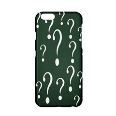 Question Mark White Green Think Apple Iphone 6/6s Hardshell Case by Alisyart