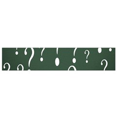 Question Mark White Green Think Flano Scarf (small) by Alisyart