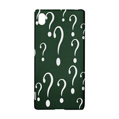 Question Mark White Green Think Sony Xperia Z3+ by Alisyart