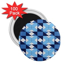 Radiating Star Repeat Blue 2 25  Magnets (100 Pack)  by Alisyart