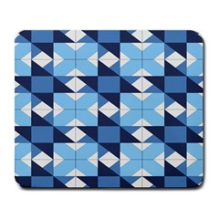 Radiating Star Repeat Blue Large Mousepads by Alisyart
