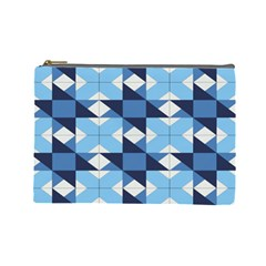 Radiating Star Repeat Blue Cosmetic Bag (large)  by Alisyart