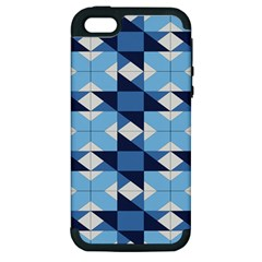 Radiating Star Repeat Blue Apple Iphone 5 Hardshell Case (pc+silicone) by Alisyart