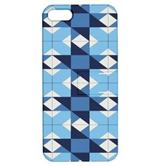Radiating Star Repeat Blue Apple Iphone 5 Hardshell Case With Stand by Alisyart