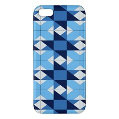 Radiating Star Repeat Blue Iphone 5s/ Se Premium Hardshell Case by Alisyart