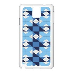 Radiating Star Repeat Blue Samsung Galaxy Note 3 N9005 Case (white) by Alisyart