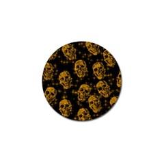 Sparkling Glitter Skulls Golden Golf Ball Marker (4 Pack) by ImpressiveMoments
