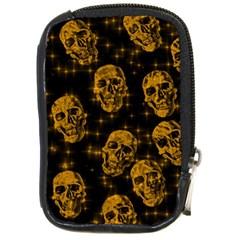 Sparkling Glitter Skulls Golden Compact Camera Cases by ImpressiveMoments