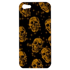 Sparkling Glitter Skulls Golden Apple Iphone 5 Hardshell Case by ImpressiveMoments