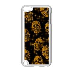 Sparkling Glitter Skulls Golden Apple Ipod Touch 5 Case (white) by ImpressiveMoments