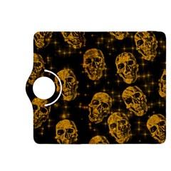 Sparkling Glitter Skulls Golden Kindle Fire Hdx 8 9  Flip 360 Case by ImpressiveMoments