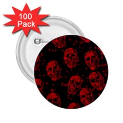 Sparkling Glitter Skulls Red 2 25  Buttons (100 Pack)  by ImpressiveMoments