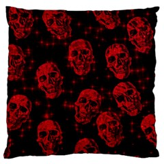 Sparkling Glitter Skulls Red Large Cushion Case (two Sides) by ImpressiveMoments