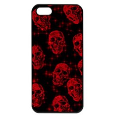 Sparkling Glitter Skulls Red Apple Iphone 5 Seamless Case (black) by ImpressiveMoments
