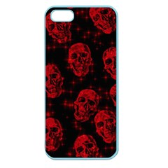 Sparkling Glitter Skulls Red Apple Seamless Iphone 5 Case (color) by ImpressiveMoments