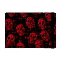 Sparkling Glitter Skulls Red Apple Ipad Mini Flip Case by ImpressiveMoments