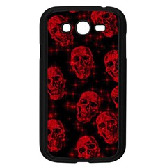 Sparkling Glitter Skulls Red Samsung Galaxy Grand Duos I9082 Case (black) by ImpressiveMoments