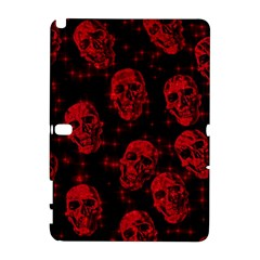 Sparkling Glitter Skulls Red Galaxy Note 1 by ImpressiveMoments
