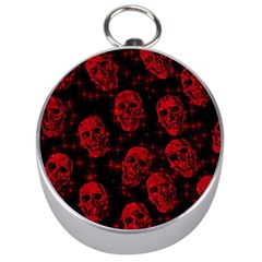 Sparkling Glitter Skulls Red Silver Compasses by ImpressiveMoments