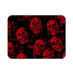 Sparkling Glitter Skulls Red Double Sided Flano Blanket (mini)  by ImpressiveMoments