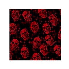 Sparkling Glitter Skulls Red Small Satin Scarf (square) by ImpressiveMoments