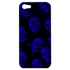 Sparkling Glitter Skulls Blue Apple Iphone 5 Hardshell Case by ImpressiveMoments