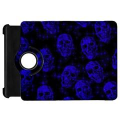 Sparkling Glitter Skulls Blue Kindle Fire Hd 7  by ImpressiveMoments