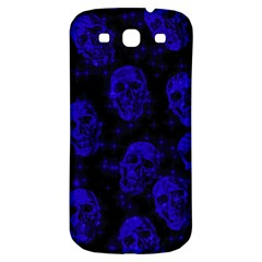 Sparkling Glitter Skulls Blue Samsung Galaxy S3 S Iii Classic Hardshell Back Case by ImpressiveMoments