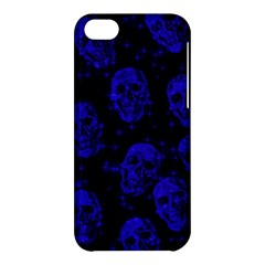 Sparkling Glitter Skulls Blue Apple Iphone 5c Hardshell Case by ImpressiveMoments