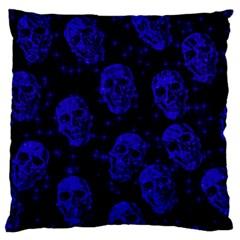 Sparkling Glitter Skulls Blue Standard Flano Cushion Case (two Sides) by ImpressiveMoments