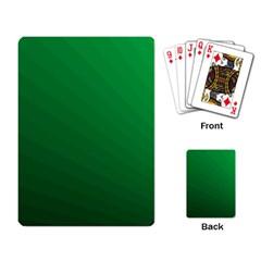 Green Beach Fractal Backdrop Background Playing Card by Simbadda