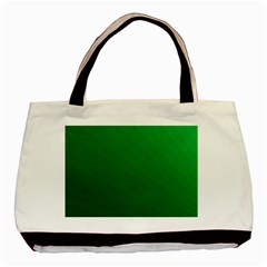 Green Beach Fractal Backdrop Background Basic Tote Bag by Simbadda