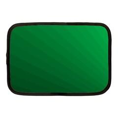 Green Beach Fractal Backdrop Background Netbook Case (medium)  by Simbadda