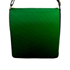 Green Beach Fractal Backdrop Background Flap Messenger Bag (l)  by Simbadda