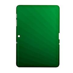 Green Beach Fractal Backdrop Background Samsung Galaxy Tab 2 (10 1 ) P5100 Hardshell Case  by Simbadda