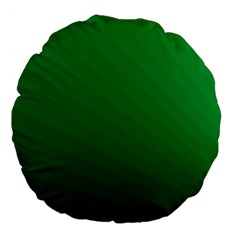 Green Beach Fractal Backdrop Background Large 18  Premium Flano Round Cushions by Simbadda