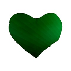 Green Beach Fractal Backdrop Background Standard 16  Premium Flano Heart Shape Cushions by Simbadda