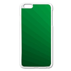 Green Beach Fractal Backdrop Background Apple Iphone 6 Plus/6s Plus Enamel White Case by Simbadda