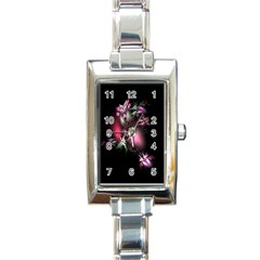 Colour Of Nature Fractal A Nice Fractal Coloured Garden Rectangle Italian Charm Watch by Simbadda