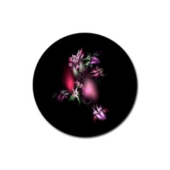 Colour Of Nature Fractal A Nice Fractal Coloured Garden Rubber Round Coaster (4 Pack)  by Simbadda