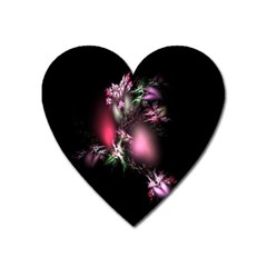 Colour Of Nature Fractal A Nice Fractal Coloured Garden Heart Magnet by Simbadda