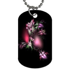 Colour Of Nature Fractal A Nice Fractal Coloured Garden Dog Tag (one Side) by Simbadda