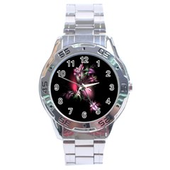 Colour Of Nature Fractal A Nice Fractal Coloured Garden Stainless Steel Analogue Watch by Simbadda