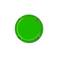 Green Circle Fractal Frame Golf Ball Marker (10 Pack) by Simbadda