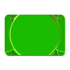 Green Circle Fractal Frame Plate Mats by Simbadda